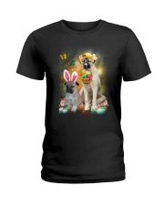 Anatolian Shepherd Happy Easter Day 2601  Ladies T-Shirt thumbnail