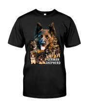 German Shepherd Awesome Classic T-Shirt front