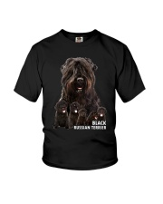 Black Russian Terrier Awesome Family 0501 Youth T-Shirt thumbnail