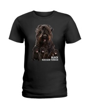 Black Russian Terrier Awesome Family 0501 Ladies T-Shirt thumbnail