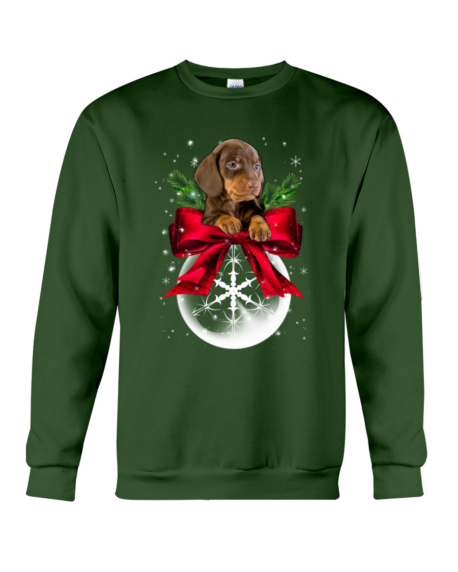 Dachshund Snowball 0210 Crewneck Sweatshirt