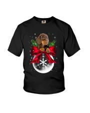Dachshund Snowball 0210 Youth T-Shirt thumbnail