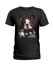 French Bulldog Awesome Family 0701 Ladies T-Shirt thumbnail