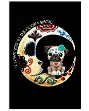 Pug Love Moon 16x24 Poster front