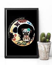 Pug Love Moon 16x24 Poster lifestyle-poster-8