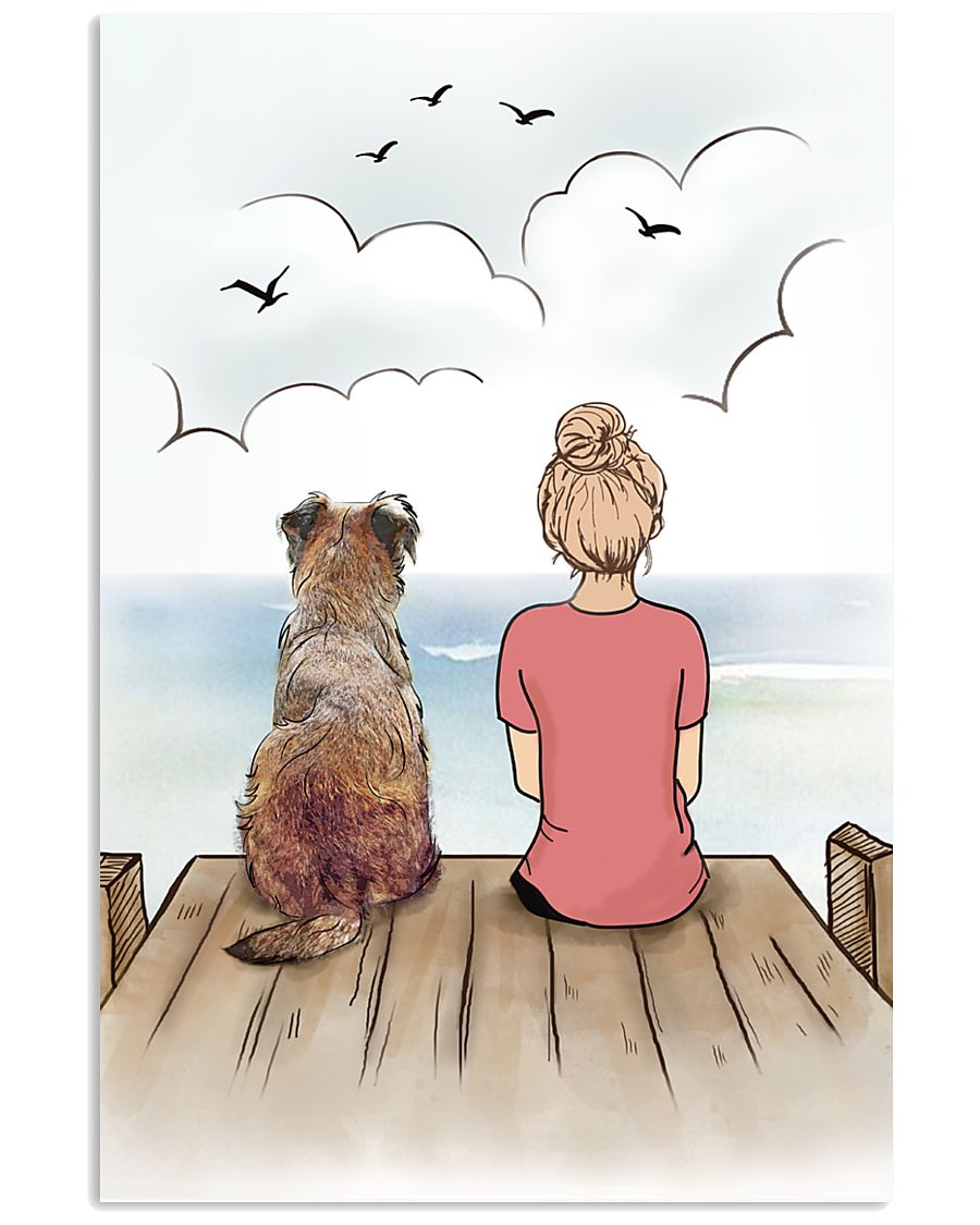 Border Terrier and Girl Poster 1212  11x17 Poster
