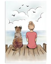 Border Terrier and Girl Poster 1212  11x17 Poster front