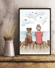 Border Terrier and Girl Poster 1212  11x17 Poster lifestyle-poster-3