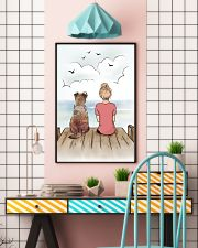 Border Terrier and Girl Poster 1212  11x17 Poster lifestyle-poster-6