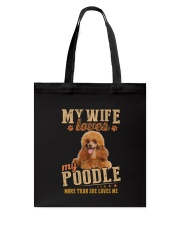 Loves My Poodle Tote Bag thumbnail