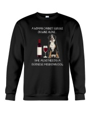 Bernese Mountain Dog and wine Crewneck Sweatshirt thumbnail