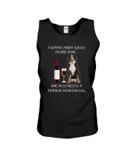 Bernese Mountain Dog and wine Unisex Tank thumbnail