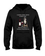 Bernese Mountain Dog and wine Hooded Sweatshirt thumbnail