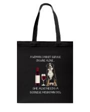 Bernese Mountain Dog and wine Tote Bag thumbnail