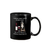 Bernese Mountain Dog and wine Mug thumbnail