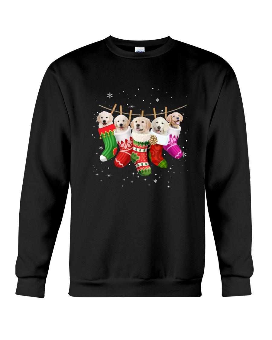 Golden Retriever Puppies Socks 3110 Crewneck Sweatshirt