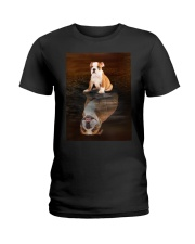 Bulldog Reflection Mug 1412 Ladies T-Shirt thumbnail
