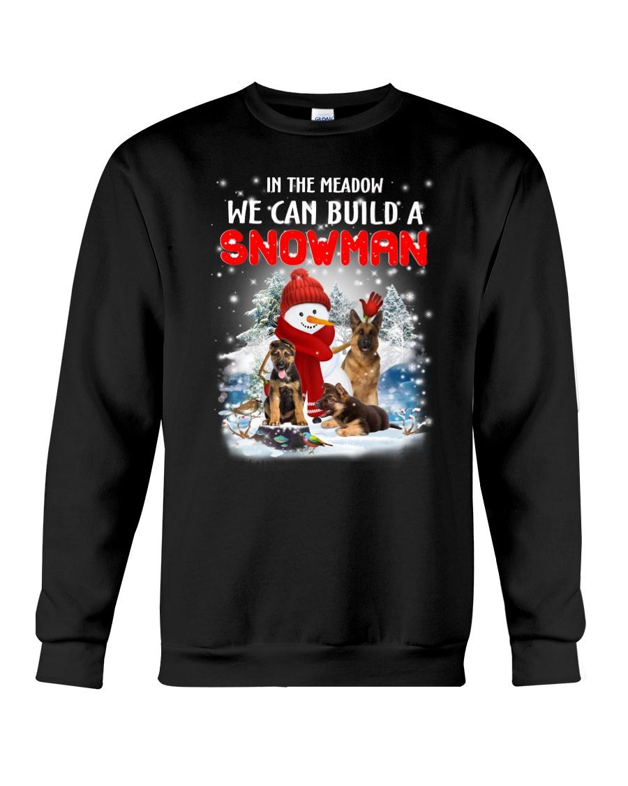 German Shepherd And Snowman Crewneck Sweatshirt