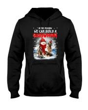German Shepherd And Snowman Hooded Sweatshirt thumbnail