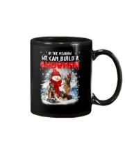 German Shepherd And Snowman Mug thumbnail