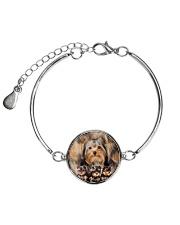 Yorkshire Terrier Awesome  Metallic Circle Bracelet thumbnail