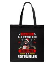 Rottweiler Christmas Tote Bag thumbnail