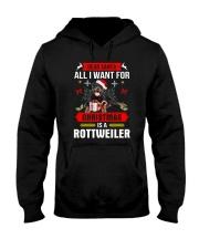 Rottweiler Christmas Hooded Sweatshirt thumbnail