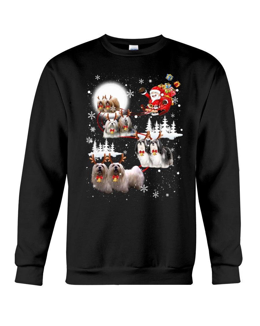 Lhasa Apso Reindeers 0310 Crewneck Sweatshirt