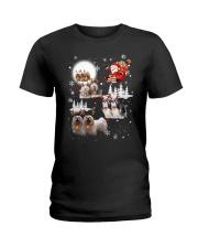 Lhasa Apso Reindeers 0310 Ladies T-Shirt thumbnail