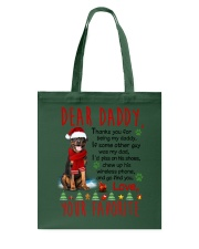 Rottweiler Daddy Christmas Tote Bag thumbnail