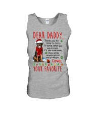 Rottweiler Daddy Christmas Unisex Tank thumbnail