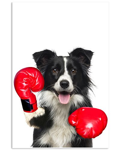 Border Collie Boxing Poster 1812