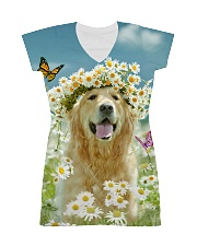 Golden Retriever Be The Flowers All-over Dress thumbnail