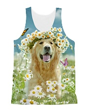 Golden Retriever Be The Flowers All-over Unisex Tank front