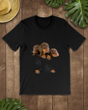 Dachshund Scratch Cute  Classic T-Shirt lifestyle-mens-crewneck-front-18