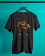 Dachshund Scratch Cute  Classic T-Shirt lifestyle-mens-crewneck-front-3