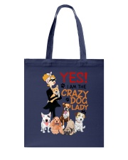 Crazy Lady and Her Dog Tote Bag thumbnail