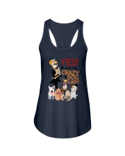 Crazy Lady and Her Dog Ladies Flowy Tank thumbnail