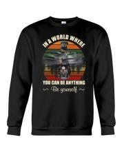 Rottweiler  Be Yourself Crewneck Sweatshirt front