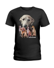 Italian Greyhound Awesome Family 0701 Ladies T-Shirt thumbnail