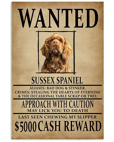 Sussex Spaniel Wanted Poster 2201