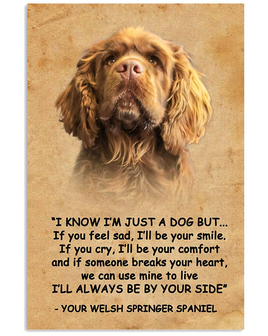 Sussex Spaniel I Know Im Just A Dog Poster 1401  11x17 Poster