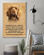 Sussex Spaniel I Know Im Just A Dog Poster 1401  11x17 Poster lifestyle-poster-1
