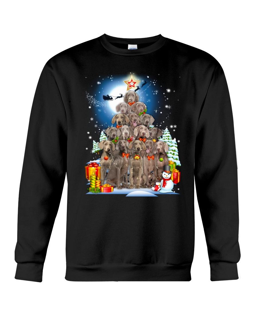 Weimaraner  Pine Tree 0310 Crewneck Sweatshirt