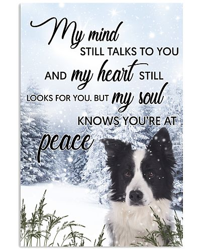 Border Collie My Mind Poster 0701