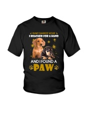 Dachshund paw Youth T-Shirt thumbnail