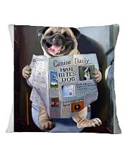 Pug Newspapers Poster 0501 Square Pillowcase thumbnail