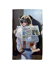 Pug Newspapers Poster 0501 Hand Towel thumbnail