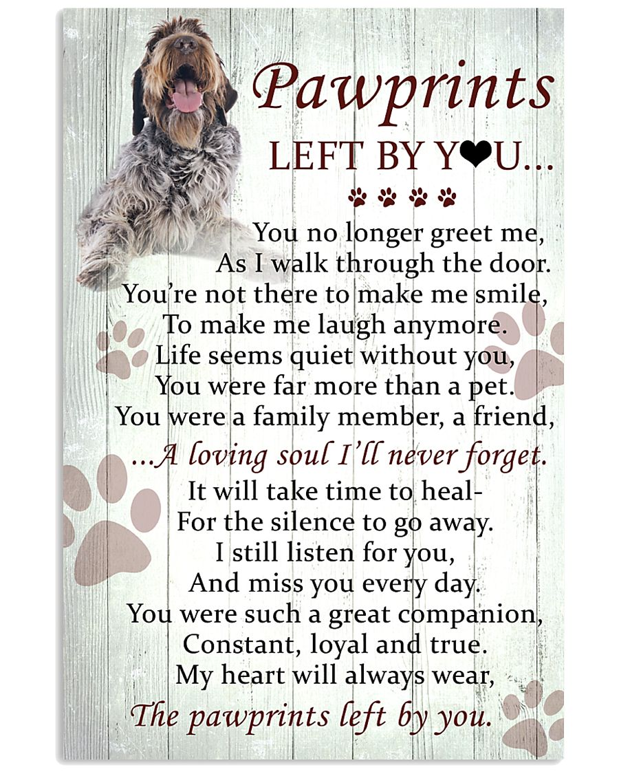 Wirehaired Pointing Griffon Pawprints Poster 2201 11x17 Poster