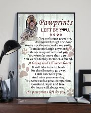 Wirehaired Pointing Griffon Pawprints Poster 2201 11x17 Poster lifestyle-poster-2